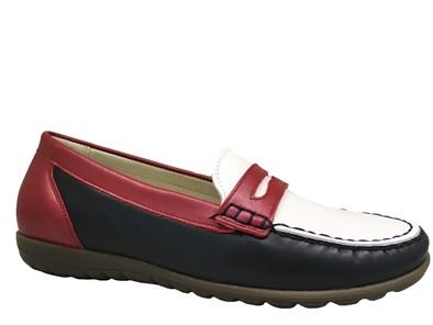Waldlaufer Navy, Red & White Loafer