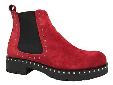Lisa Kay 'Morgan' Red Suede Stud Boot