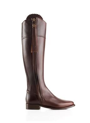 Fairfax & Favor Flat Regina Boot In Mahogany
