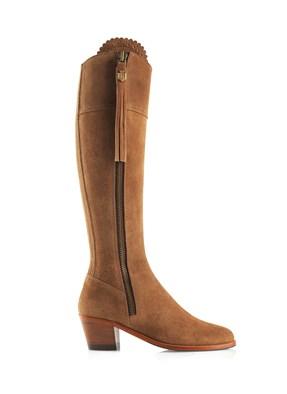 Fairfax & Favor Heeled Regina Boot In Tan