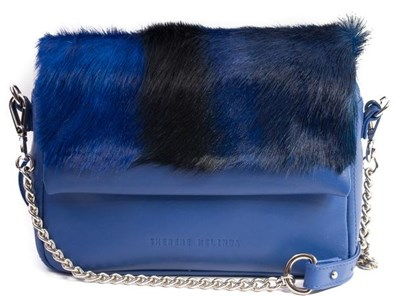 Sherene Melinda Royal Blue Stripe Shoulder Bag
