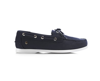 Fairfax & Favor Salcombe Deck Shoe In Navy