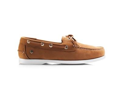 Fairfax & Favor Salcombe Deck Shoe In Tan