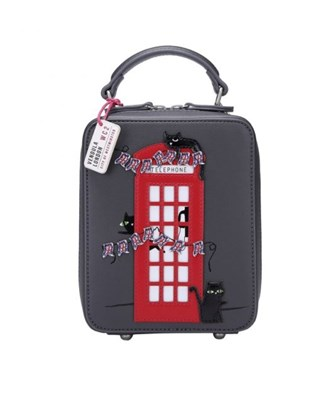 Vendula London Cats London Bus Crossbody Bag In Grey