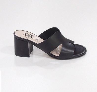 Hb Black Block Heel Sandal