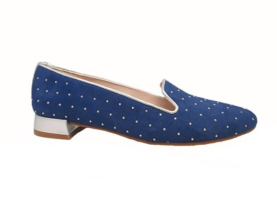 Hb Navy Studded Suede Shoe
