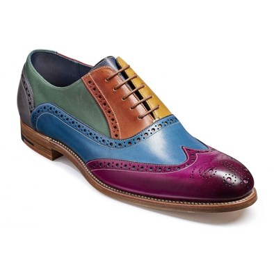 Barker Valiant Multi Coloured Leather Brogue