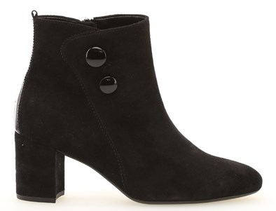 Gabor 'Venue' Black Suede Ankle Boot