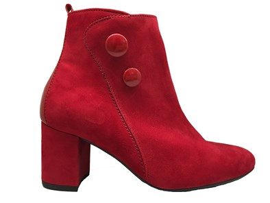 Gabor 'Venue' Red Suede Ankle Boot