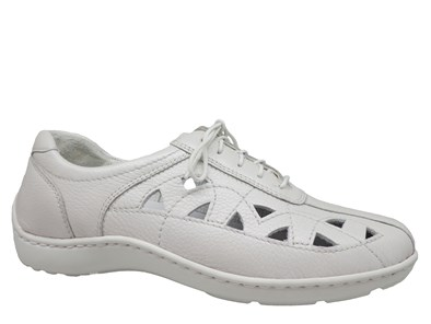 Waldlaufer Off White Cut-Out Summer Lace Up