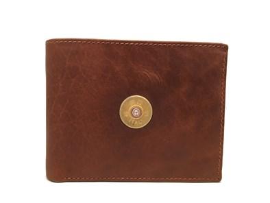 Hicks & Hide 12bore Cartridge Wallet In Cognac