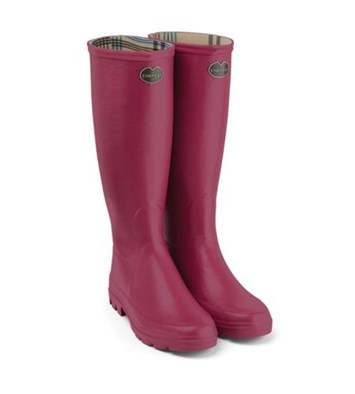 Le Chameau 'Iris' Jersey lined Boot In Rose
