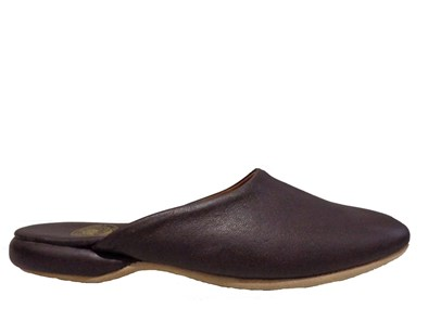 Drapers William Leather Mule Slipper In Wine