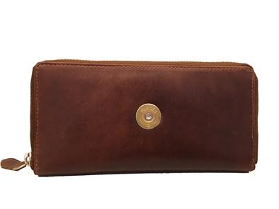 Hicks & Hide Cognac Leather Zip-around purse