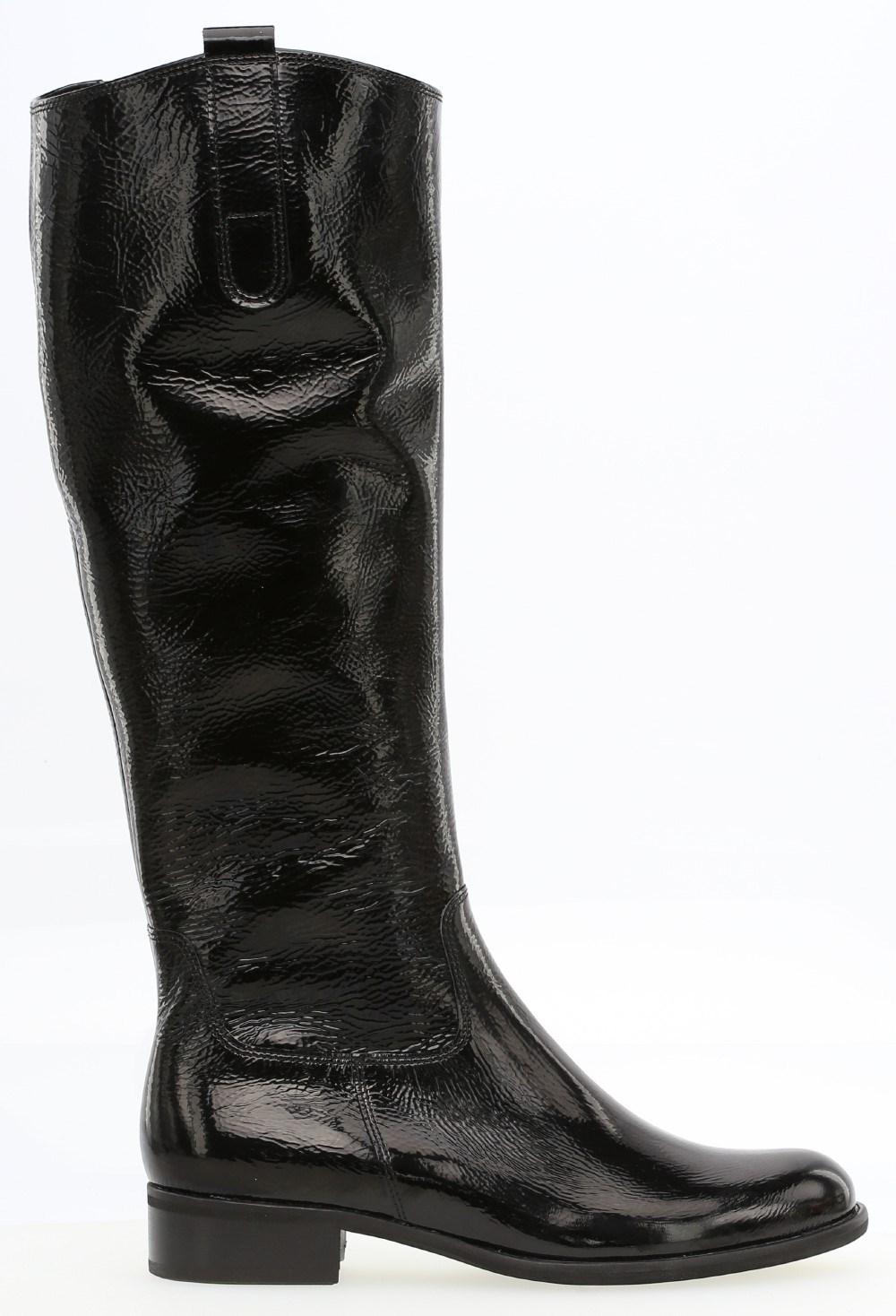 Gabor 'Brook' Black Patent Long Boot