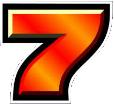 simbolo numero 7 di Sizzling Hot Deluxe slot machine