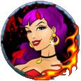 Il simbolo Diavolo femminile della slot machine Firestarter