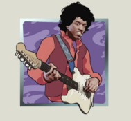 Jimi Hendrix Slot Machine: simbolo Wild
