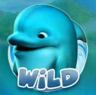 Il simbolo Wild della Dolphin's Island S Slot Machine