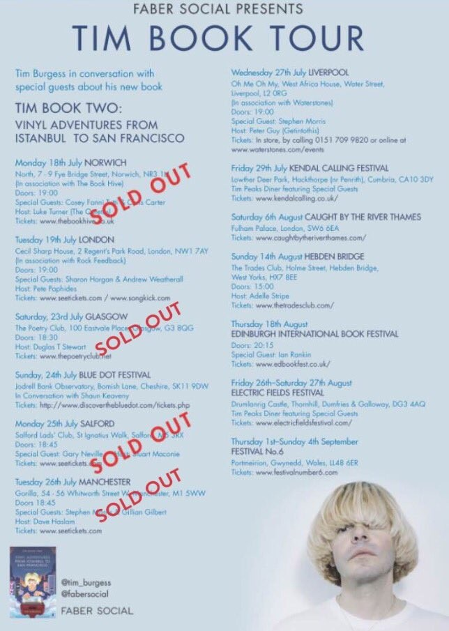 Tim Book Two tour