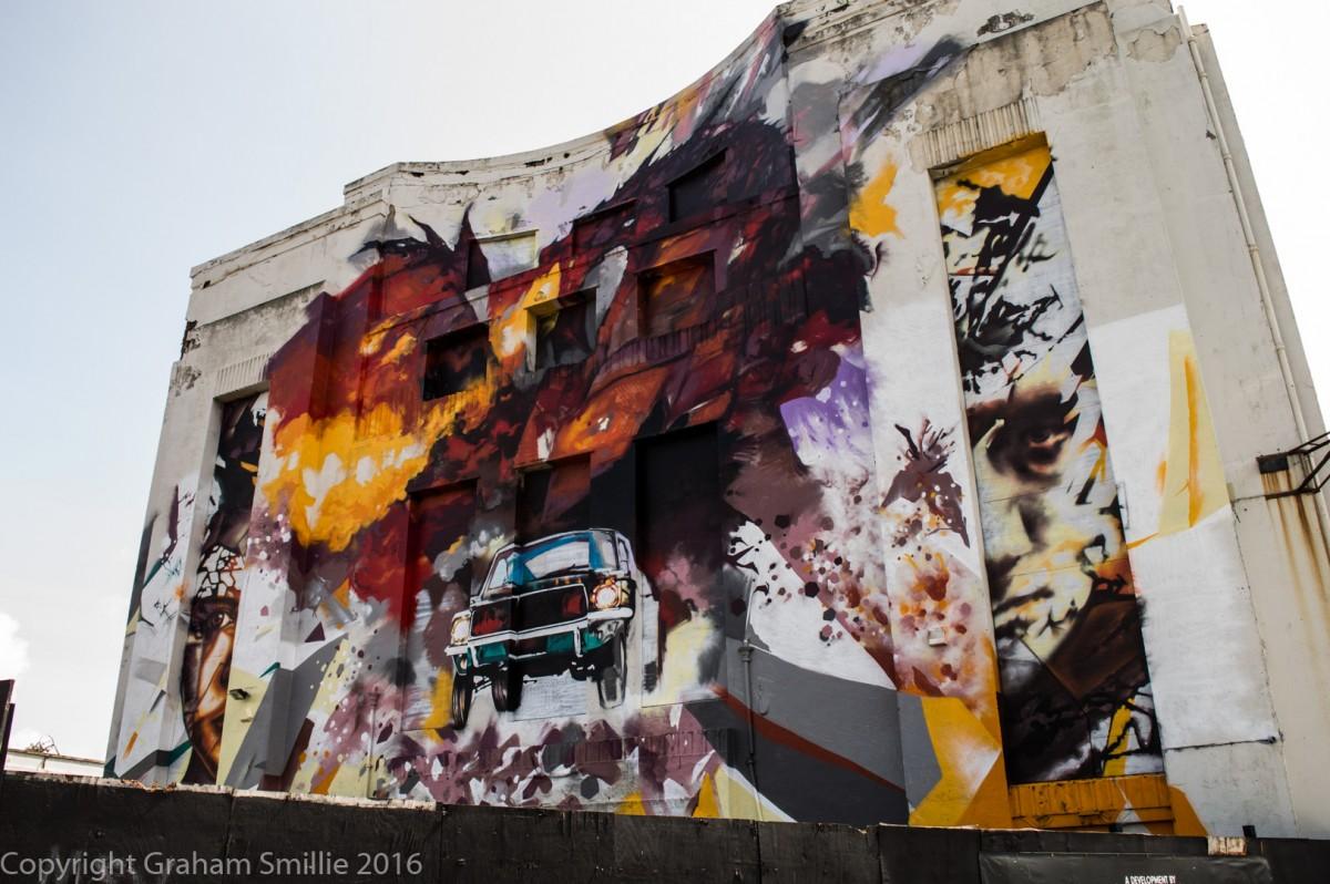 Littlewood street art installation by Graham Smilie