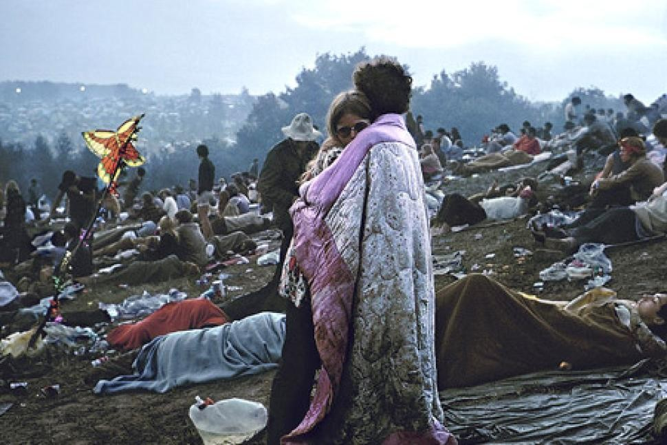 Iconic image from Woodstock