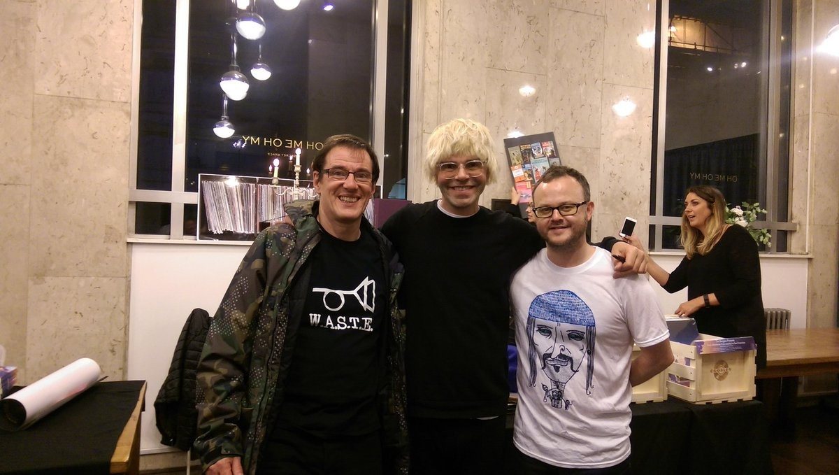 Stephen Morris, Tim Burgess and Peter Guy