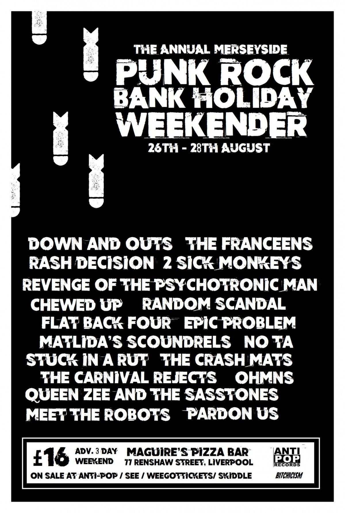 August Bank Holiday Weekender