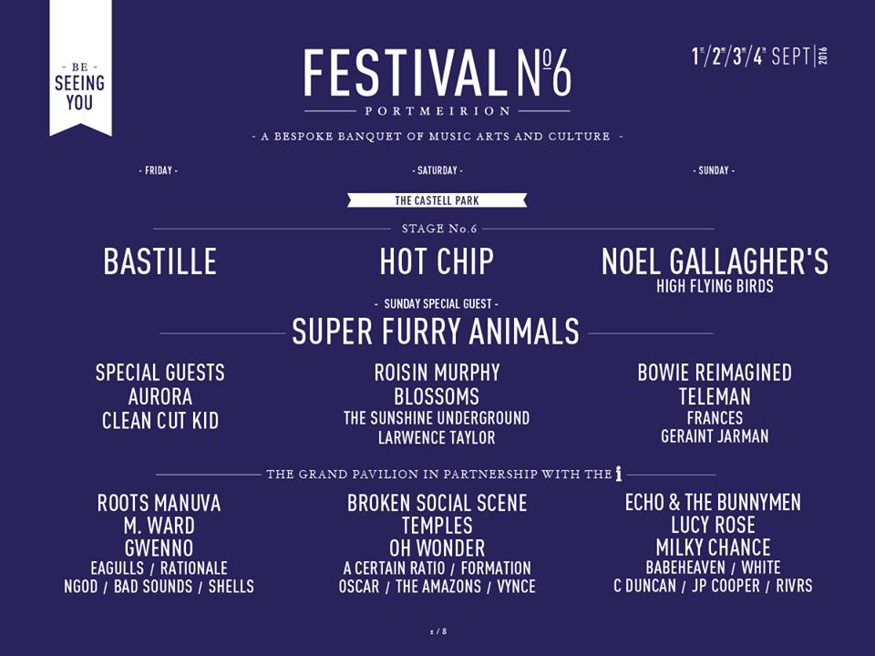 Festival Number 6 2016 Line up