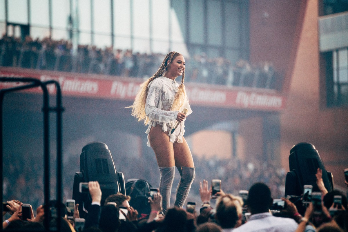 Beyonce live at Old Trafford in Manchester