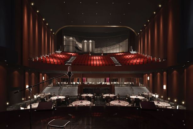 Artist impressions of how the interior revamped ABC Cinema on Lime Street Liverpool could look after proposed refubishment, including auditorium and television studio