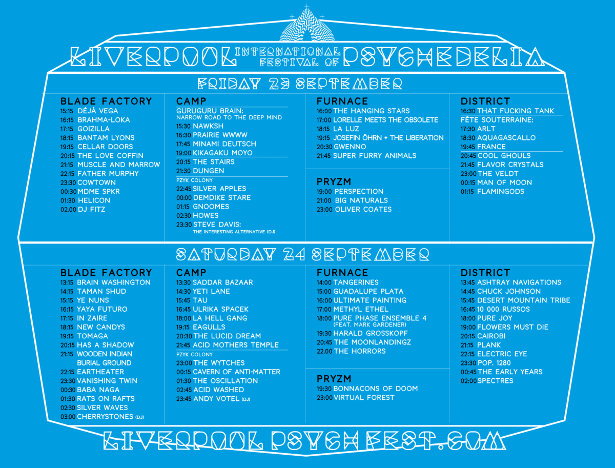 Psych Fest stage times
