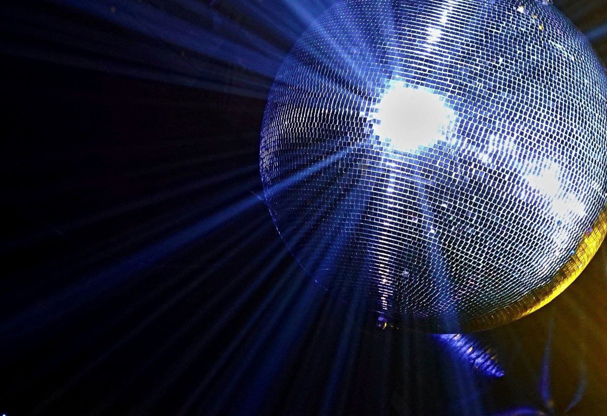 It wouldn't be a disco festival without a disco ball