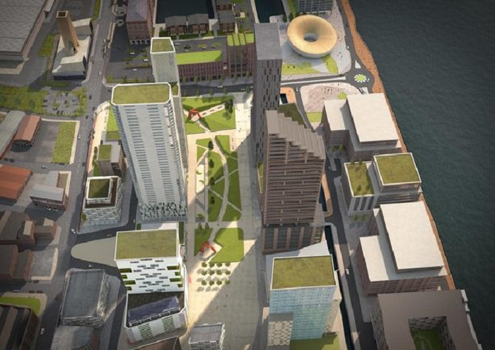 Liverpool Waters-new CGI of how it could look