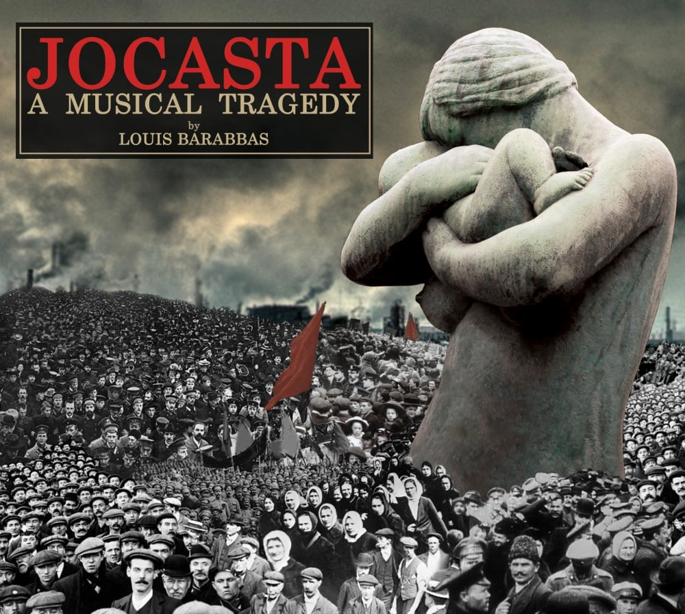 The cover of the soundtrack album for Jocasta: A Musical Tragedy