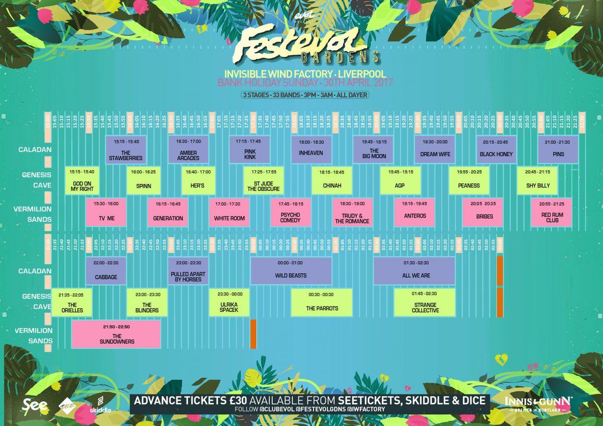 FestEVOL Gardens set times