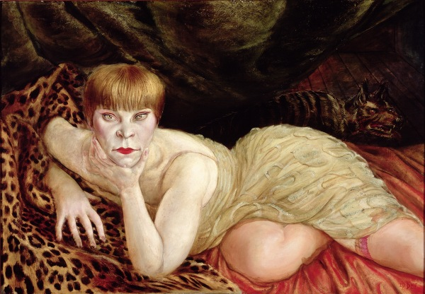 Otto Dix - Reclining Woman on a Leopard Skin (courtesy of Tate Liverpool)