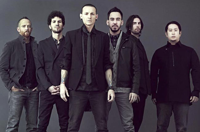 Linkin Park's Chester Bennington (centre) dead at 41