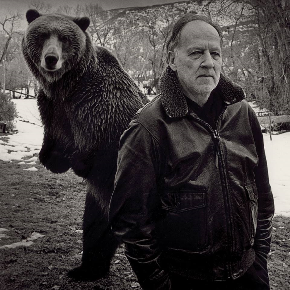 Werner Herzog on the set of Grizzly Man (Credit: BFI Facebook page)