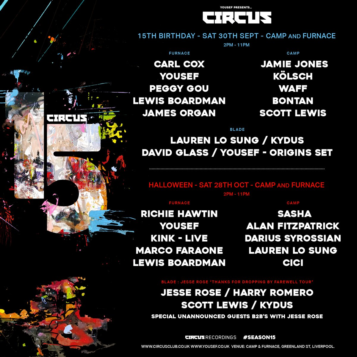 Circus Lineup