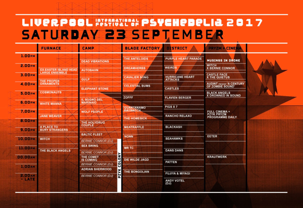 Psych Fest stage times - Day 2