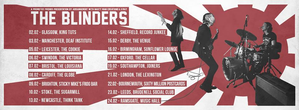 The Blinders Feb 2017 tour dates