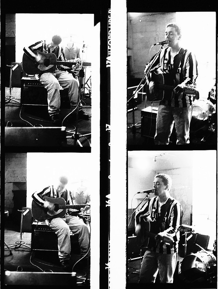 Michael Head in Crash Rehearsal Studios 1990 Photo by Paul McCoy