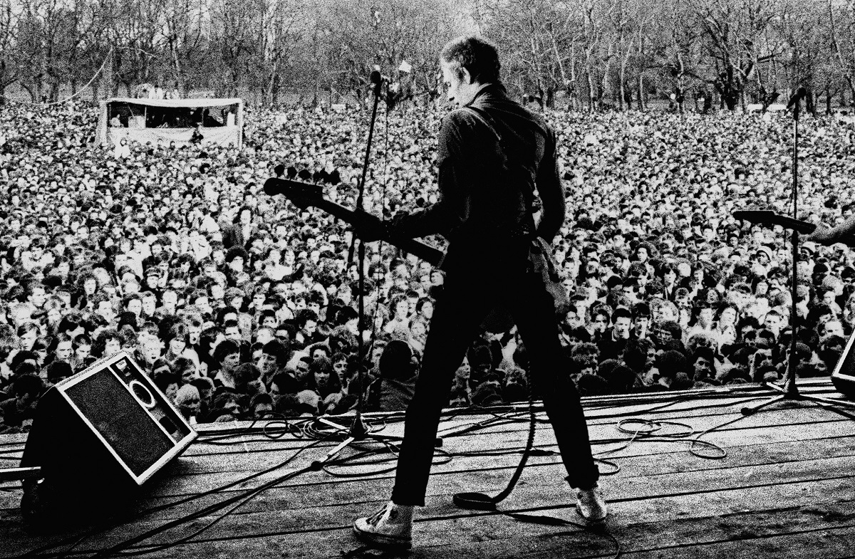 Paul Simonon, The Clash at the Rock Against Racism/Anti Nazi League. Photo Credit: © Syd Shelton