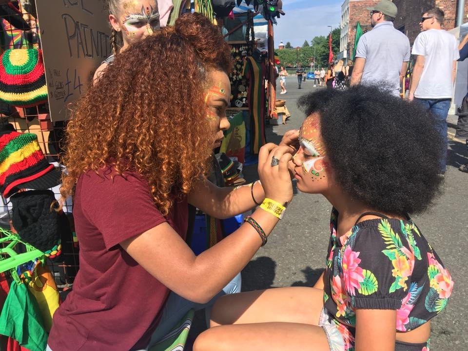Face Painters at Positive Vibration