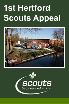 1st Hertford Scout Group is raising funds in order to pay back loans that have been taken out in order to buy the freehold on our site in September 2012. The lease of our headquarters on the River Lea Navigation expired at that time and we raised £100,000 approximately which allowed us to gain access to a further sum loaned by the Scout Association. When the loan is paid off we will be moving forward to re-develop our 40 year old facilities for the benefit of the youth in Hertford and its surrounding district.
