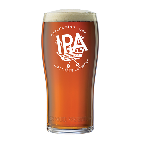 Greene King IPA pint glass