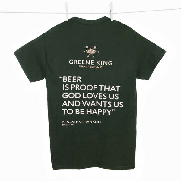 Beer is proof … T Shirt - Green - Large