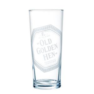 """""""Old Golden Hen"""" Pint Glass"""