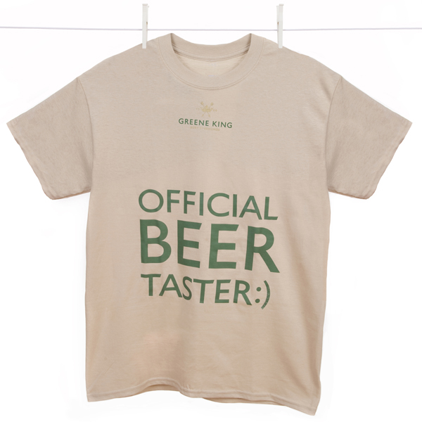 Beer Taster T Shirt - Stone - Small